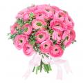Букет розовых ранункулюсов