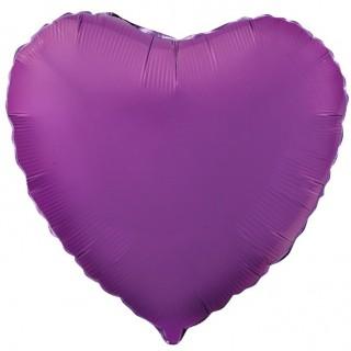 Сердце (18''/46 см), фиолетовое
