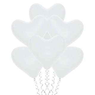 Белые сердца (12''/30 см), пастель
