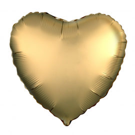 Сердце (18''/46 см), золото (сатин)