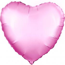 Сердце (18''/46 см), розовое (сатин)