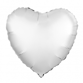 Сердце (18''/46 см), белое (сатин)
