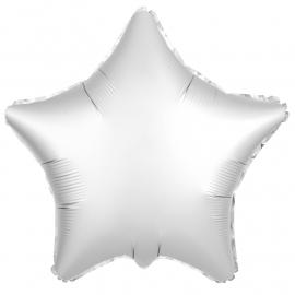 Звезда (18''/46 см), белая (сатин)