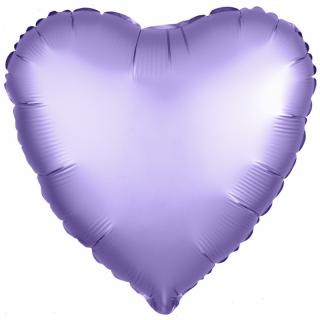 Сердце (18''/46 см), аметист (сатин)