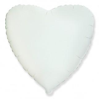 Сердце (18''/46 см), белое