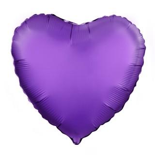 Сердце (18''/46 см), фиолетовое (сатин)