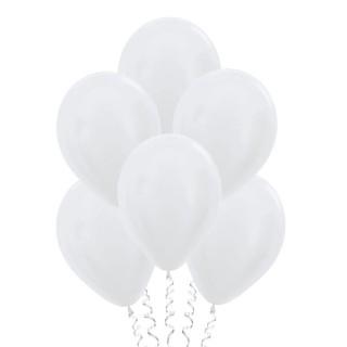 Белые (12''/30 см), металлик
