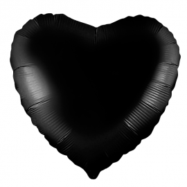 Сердце (18''/46 см), чёрное