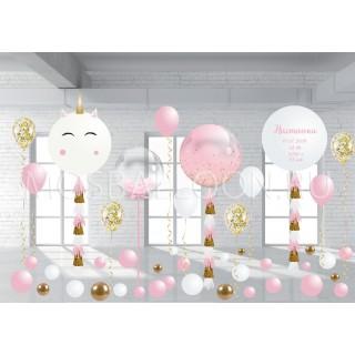 Набор шаров на выписку для девочки