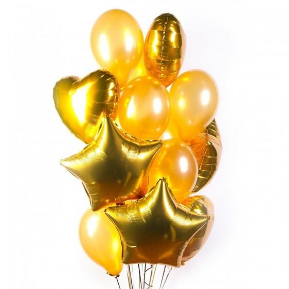 Золотой фонтан шаров