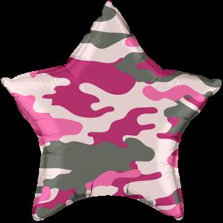 Звезда (18''/46 см), розовый камуфляж