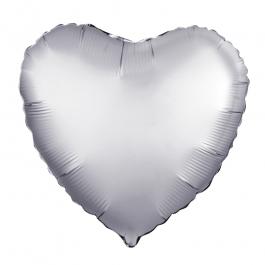 Сердце (18''/46 см), платина (сатин)