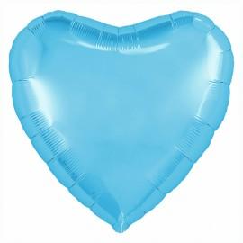 Сердце (18''/46 см), холодно-голубое