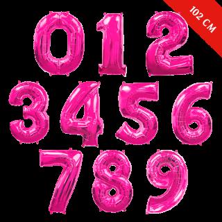 Шары цифры с гелием (40''/102 см), Фуше