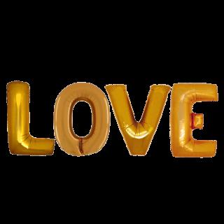 Шары LOVE (40''/102 см), Золото