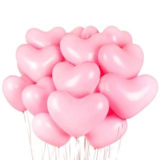 Облако из 15 розовых сердец