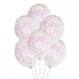 С конфетти (12''/30 см), фиолетовая слюда