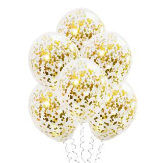С конфетти (12''/30 см), золотые блестки