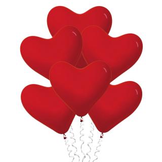 Красные сердца (12''/30 см), пастель