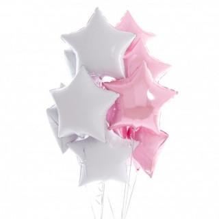 Фонтан из бело-розовых звёзд