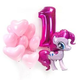 Набор шаров на День Рождения с Пинки Пай