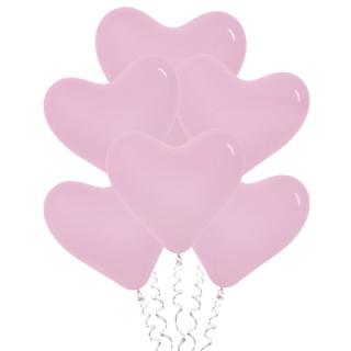 Розовые сердца (12''/30 см), пастель