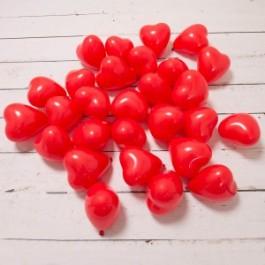 Красные сердца с воздухом