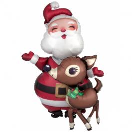 """Санта Клаус и олень (48""""/122 см)"""