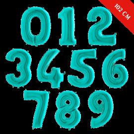 Шары цифры с гелием (40''/102 см), Тиффани