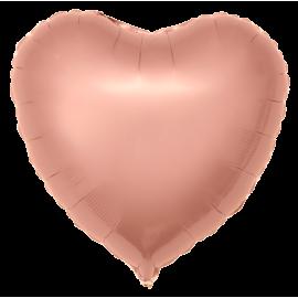 Сердце (18''/46 см), розовое золото
