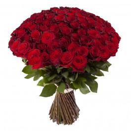 """Букет из 101 красной розы """"Фридом"""" (Эквадор)"""