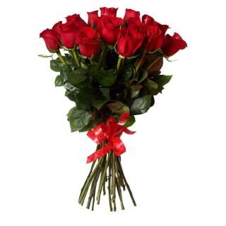 """Букет из 15 красных роз """"Фридом"""" (Эквадор)"""