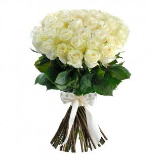 "Букет из 35 белых роз ""Мондиаль"" (Эквадор)"