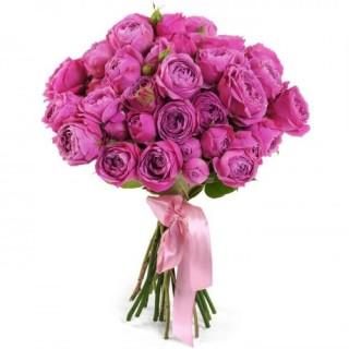 """Букет из 19 пионовидных кустовых роз """"Мисти Баблс"""""""