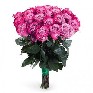 """Букет из 25 сиреневых роз """"Дип Перпл"""" (Эквадор)"""