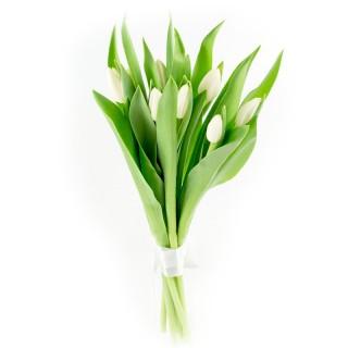 Букет из 9 белых тюльпанов