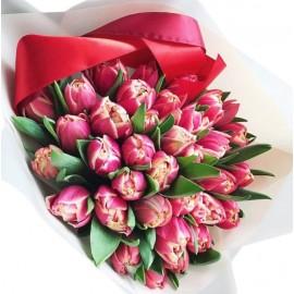 """Букет из 35 пионовидных тюльпанов """"Колумбус"""""""