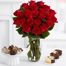"""Букет из 25 красных роз """"Фридом"""" (Эквадор)"""