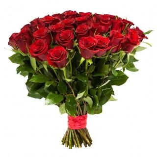 """Букет из 35 красных роз """"Фридом"""" (Эквадор)"""