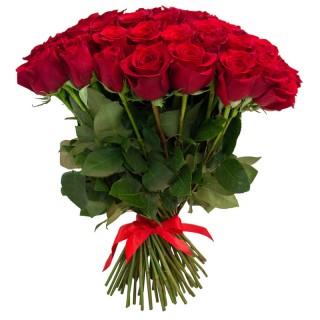 """Букет из 55 красных роз """"Фридом"""" (Эквадор)"""