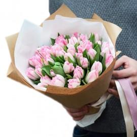 """Букет из 25 пионовидных тюльпанов """"Фокстрот"""""""