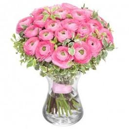 Букет розовых ранункулюсов, 9 шт