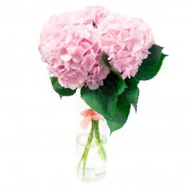Букет из 3 розовых гортензий