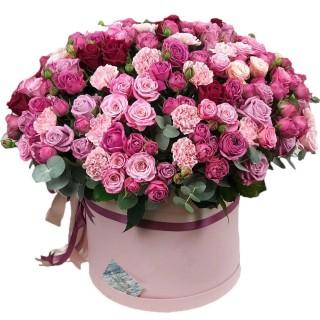 "Коробка с цветами ""Зефирное облачко"""