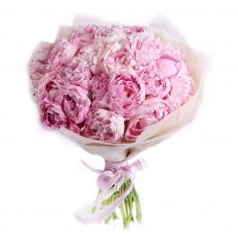 """Букет из 25 нежно-розовых пионов """"Сара Бернар"""""""