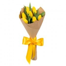 Букет из 7 жёлтых тюльпанов