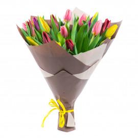 Букет из 25 ассорти тюльпанов