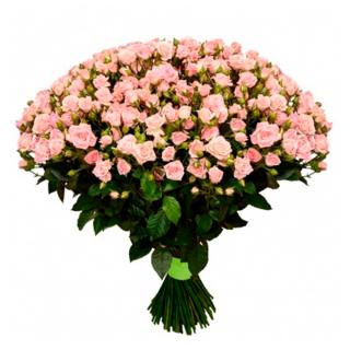 """Букет из 39 розовых кустовых роз """"Лидия"""", 60 см"""