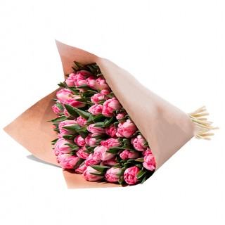 """Букет из 49 пионовидных тюльпанов """"Фокстрот"""""""