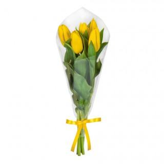 Букет из 5 жёлтых тюльпанов